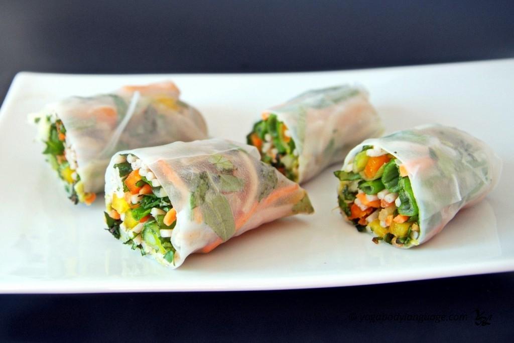 спринг роллы рецепт с овощами с фото