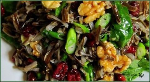 салат с диким рисом без варки
