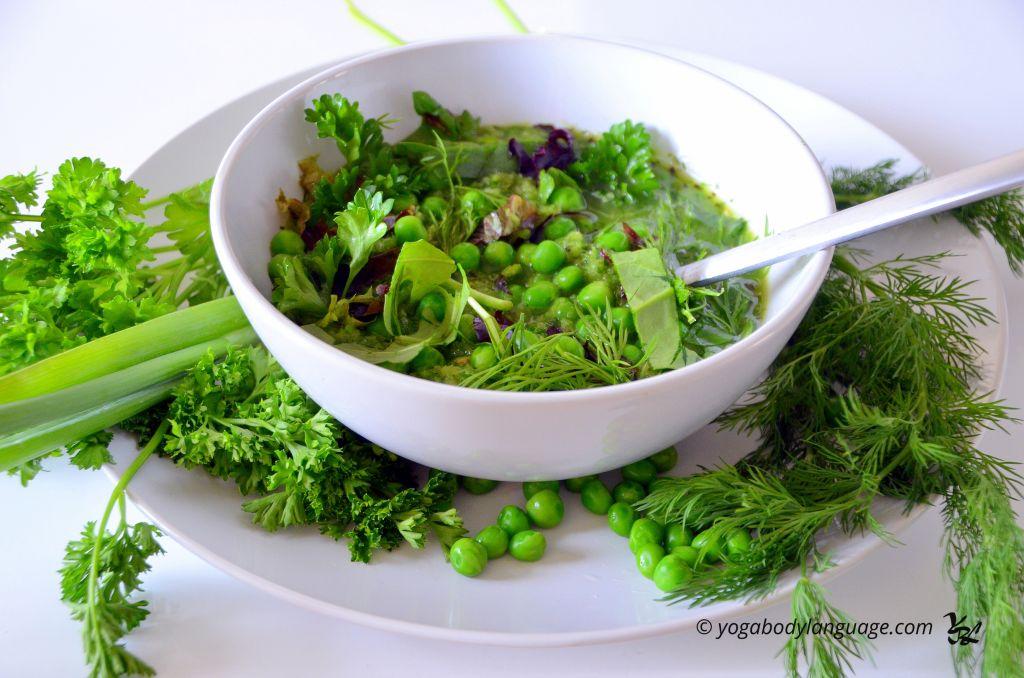 Рецепт салата из свежего зеленого горошка рецепт